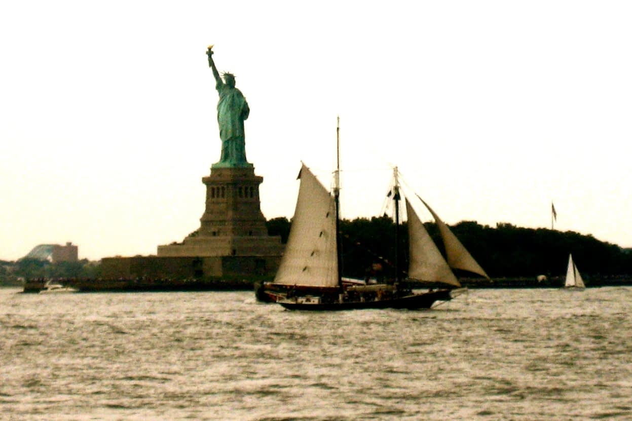 Liberty and Sailboat